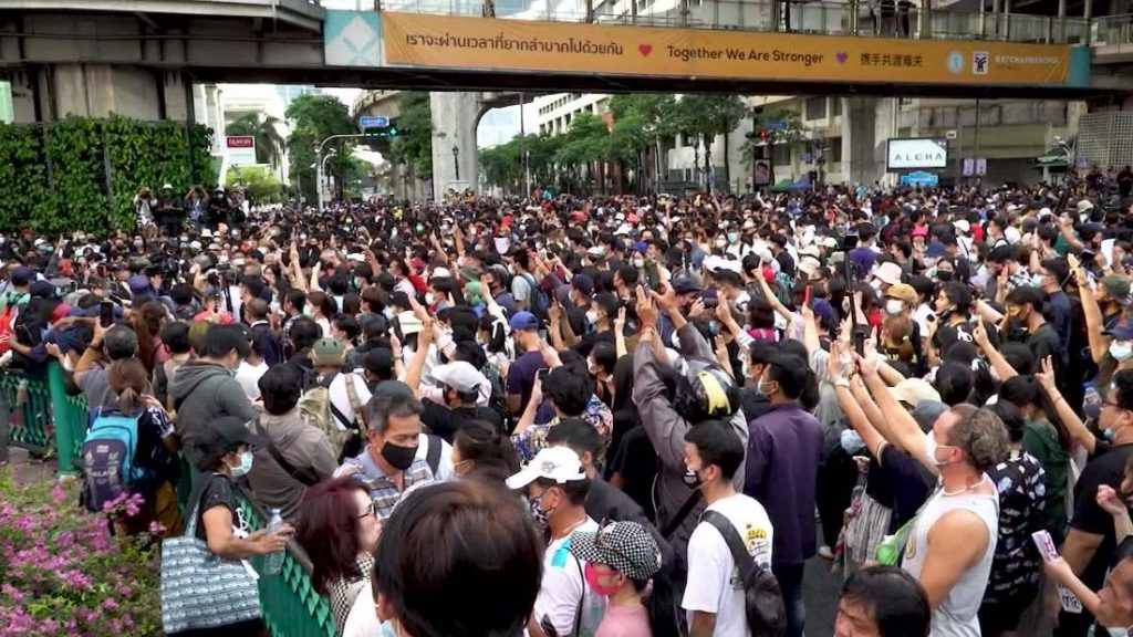 Protests continue in Thailand amid government crackdown